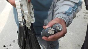 بقايا قنبلة عنقودية لم تنفجر في حلب