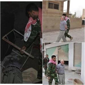 قام أبو شهد الجبوري بتوثيق عملية اعتقاله وتعذيبه وقتله لمسن في مدينة النبك