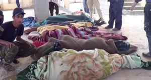 جثث الضحايا في المجزرة