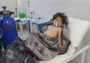 أحد الأطفال المصابين في الهجوم