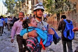 من أعمال إنقاذ الضحايا بعد الغارة
