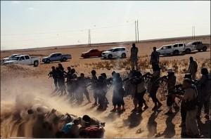 تعد الإعدامات الميدانية من أبرز الانتهاكات التي تميّز بها تنظيم داعش