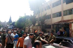 استغل النظام السوري التفجيرات التي تحصل في حمص في حملاته الدعائية بشكل واسع-من الانفجار الذي استهدف مدرسة في حي عكرمة في 1/10/2014