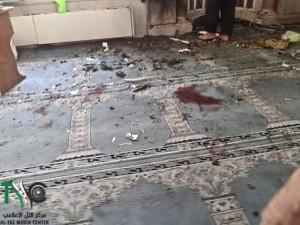 مكان الانفجار داخل الجامع الكبير في التل يوم الجمعة الماضي