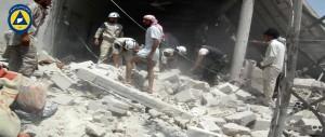 إنقاذ المصابين في قرية الخوين