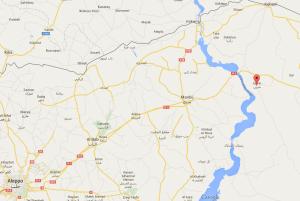 تقع بلدة صرين في ريف حلب الشرقي، وسيطرت عليها القوات الكردية بعد إجبار طيران التحالف لقوات داعش على مغادرة البلدة