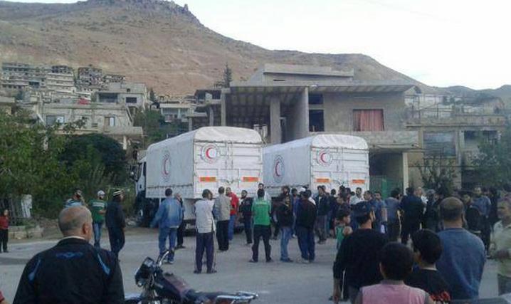 تعد المساعدات الإغاثية التي وصلت إلى مضايا اليوم هي الأولى منذ نحول 70 يوماً