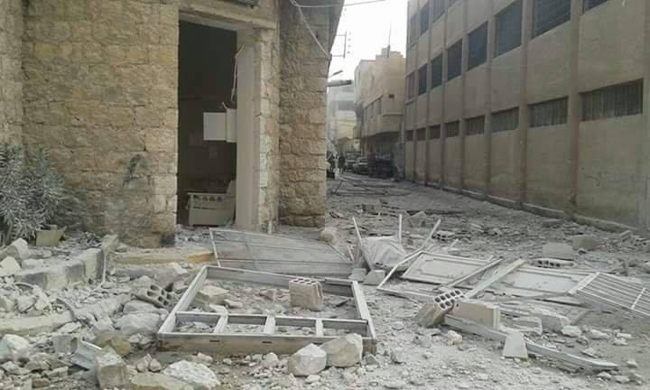 أدى الاستهداف إلى أضرار مادية في المبنى المدرسي