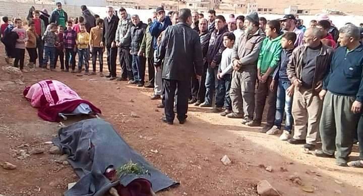 الصلاة يوم السبت على اللاجئات السوريات اللواتي قتلن بإطلاق النار من طرف الجيش اللبناني