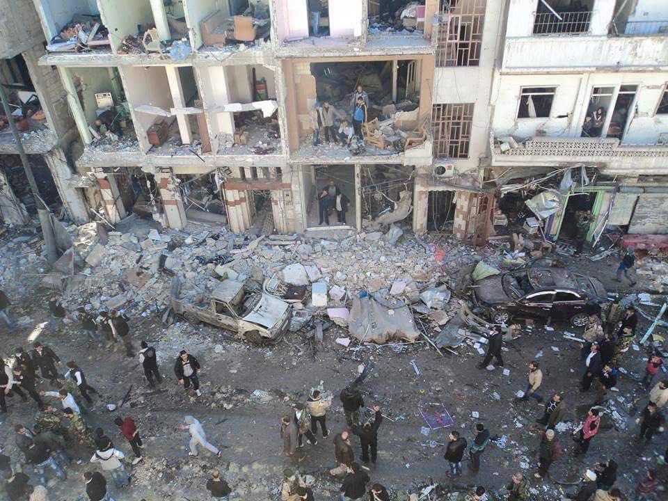 أدّى الانفجار إلى إلحاق أضرار مادية كبيرة بالمباني السكنية في الحي