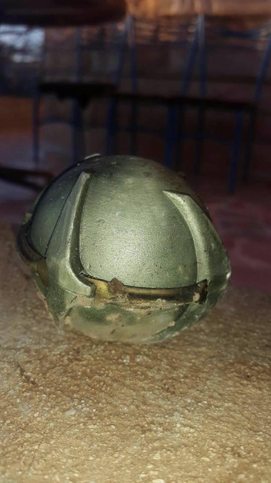 من بقايا القنابل العنقودية التي سقطت على تل رفعت هذا اليوم
