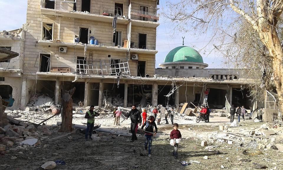 تم استهداف المسجد أثناء خروج المصلين من صلاة الجمعة