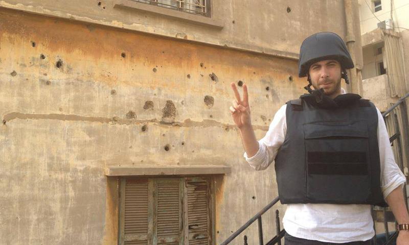يعمل رامي صحفياً ميدانياً في الشمال السوري