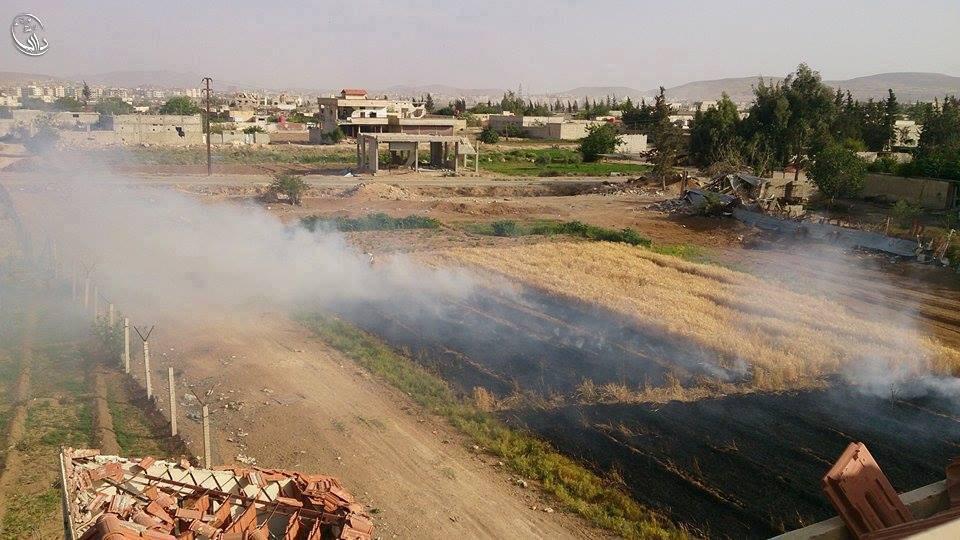 تقوم قوات النظام باستهداف حقوق مدينة داريا المحاصرة في الوقت الذي تمنع وصول المساعدات إليها