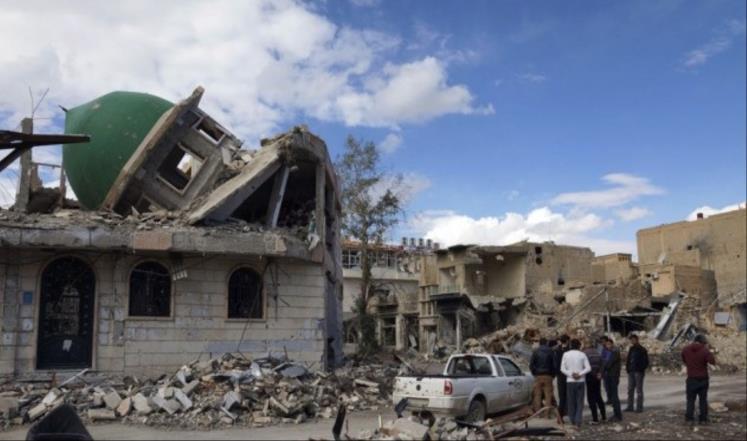 تتعرّض المساجد والأماكن الحيوية الأخرى لاستهداف مباشر من قبل الطيران الحربي بشكل ممنهج