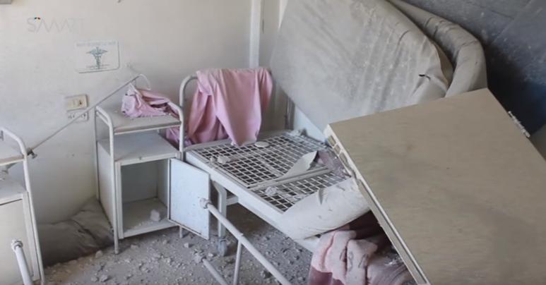 أدّى القصف إلى إلحاق دمار واسع بالمؤسسات الطبية-الصورة من مشفى الدقاق في حلب