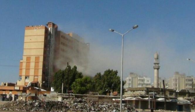 استهدف القصف مشفى البر لأول مرة