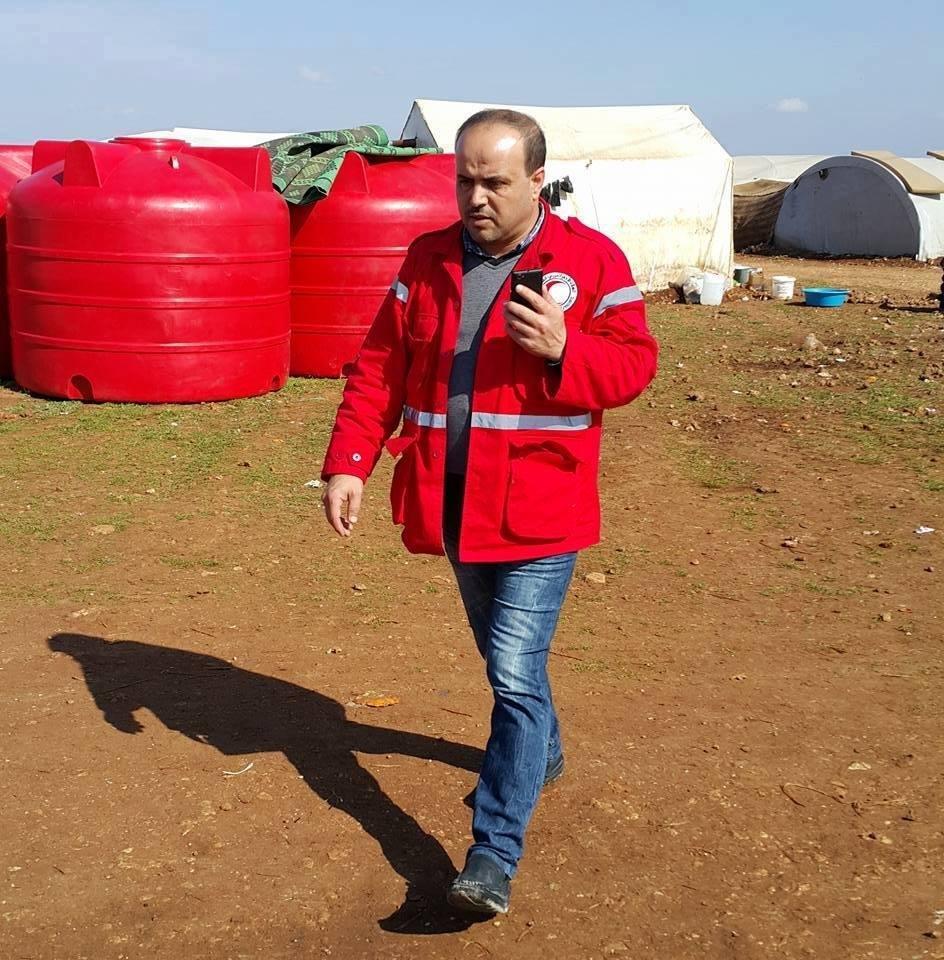 أدّى القصف إلى مقتل 12 متطوعاً في الهلال الأحمر، من بينهم هلال بركاتمدير مركز ريف حلب الغربي في الهلال الأحمر