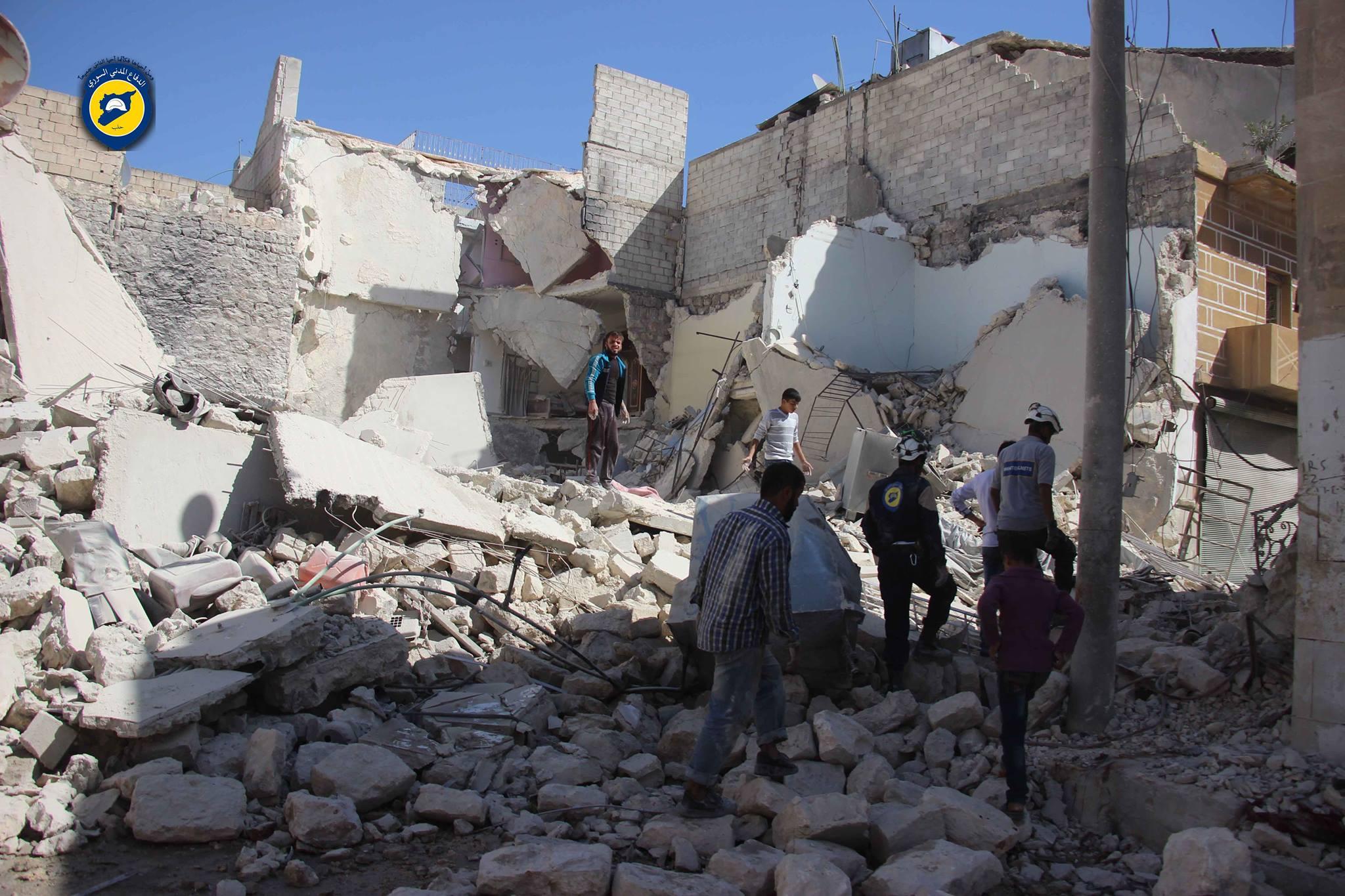 من آثار الدمار في حي بستان الباشا