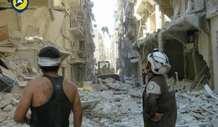 أدّى القصف الصاروخي إلى مقتل 6 أشخاص من عائلة واحدة في حي السكري