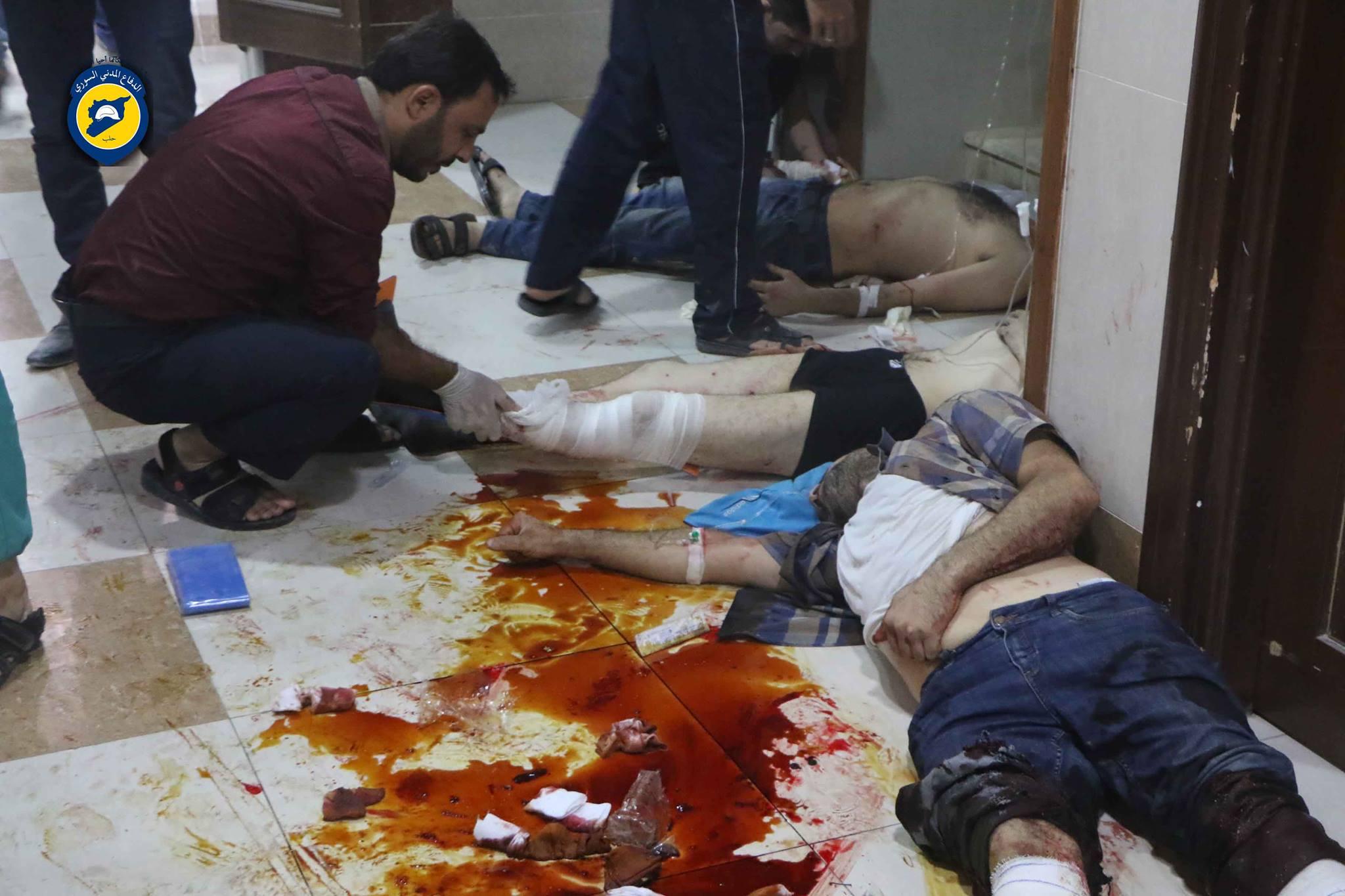 أدّى القصف بالقنابل العنقودية على حي صلاح الدين إلى مقتل 3 أشخاص