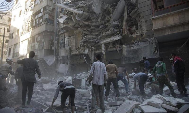 الصورة من استهداف المشفى قبل يومين