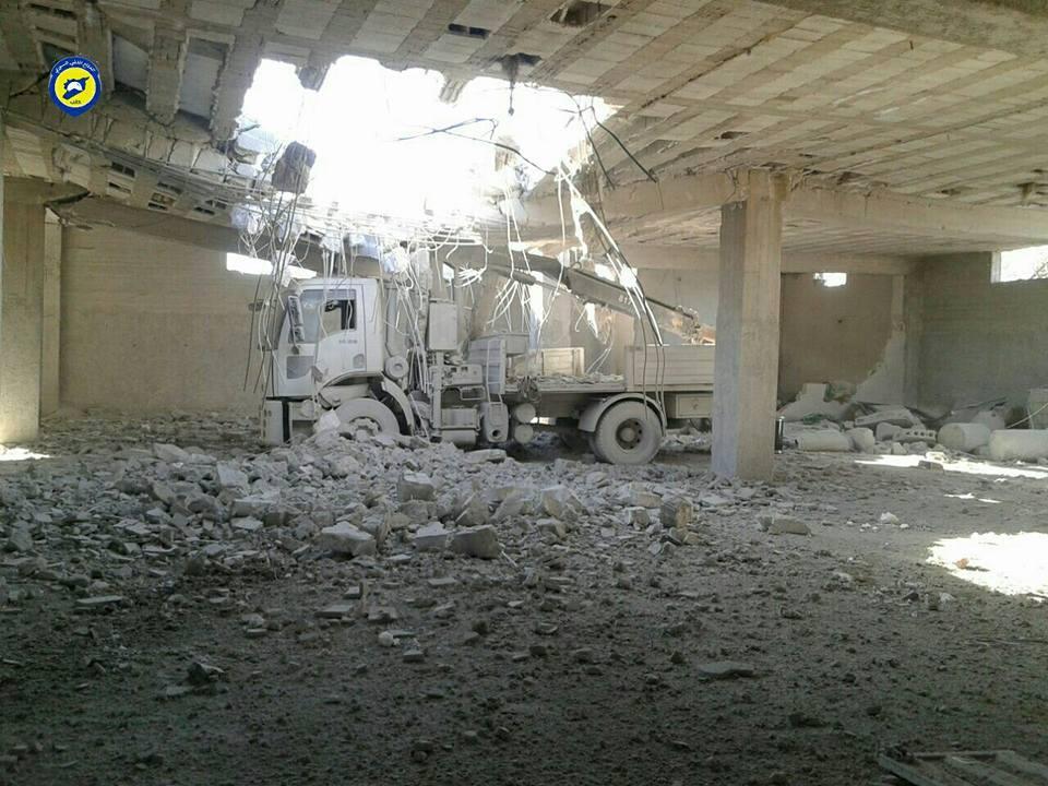 أدّى القصف على مركز أورم الكبرى مما أدى لتدميره