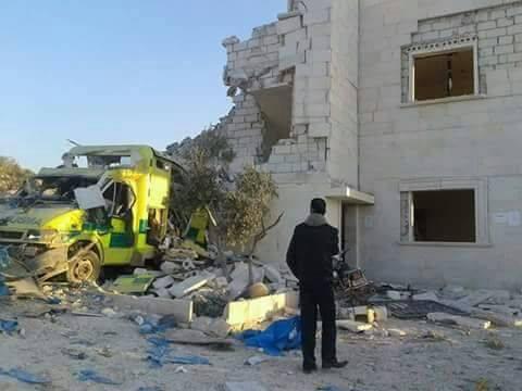 استهداف القصف مشفى شفق في البلدة