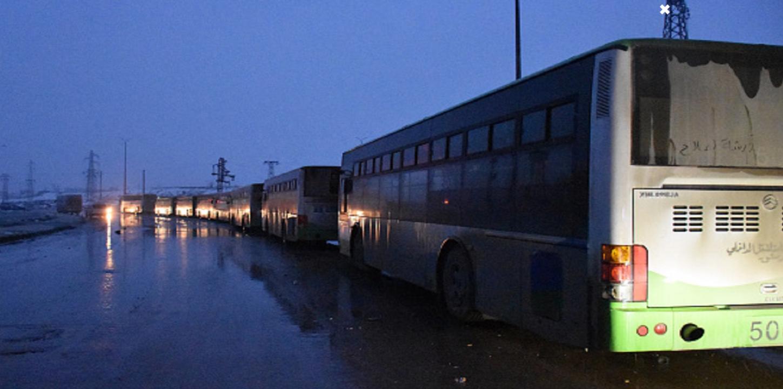 خرجت اليوم آخر دفعة من المحاصرين في حلب الشرقية