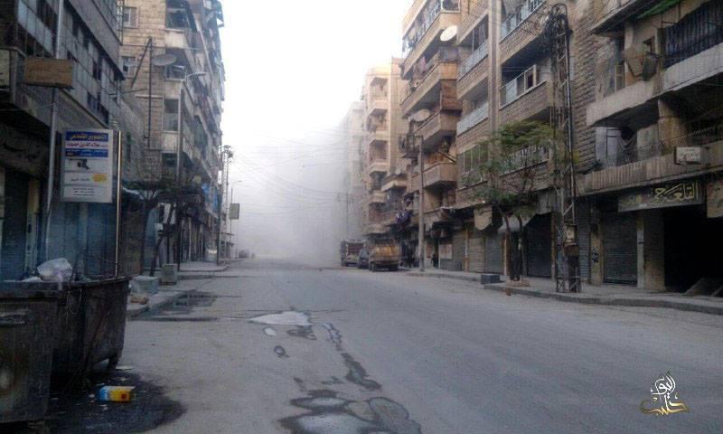 تعرّض حي الكلاسة لقصف ببراميل متفجرة تحوي غازات سامة