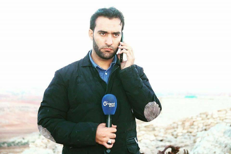 أدّى القصف إلى إصابة مراسل أورينت نيوز سيف العبد الله