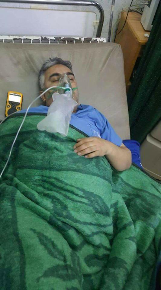 أدّى القصف بالغازات السامة إلى مقتل الطبيب الجراح علي الدرويش