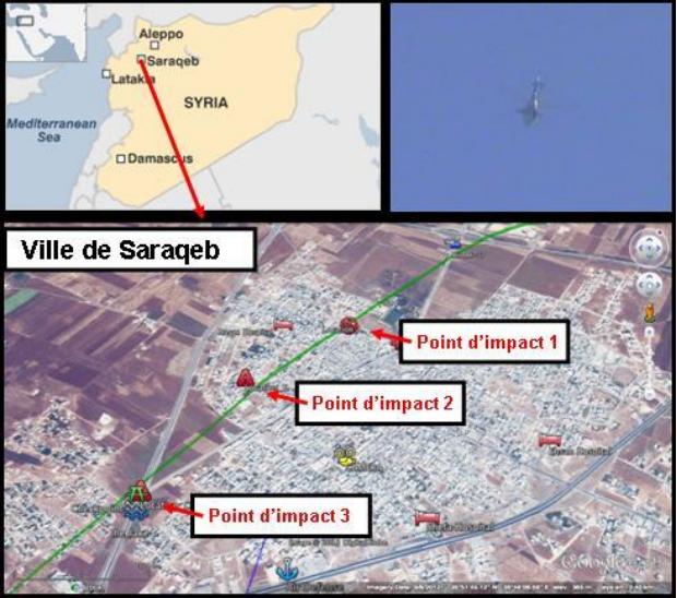 قام التقرير بالمقارنة بين استهداف خان شيخون واستهداف آخر قام به النظام على مدينة سراقب في 29/4/2013