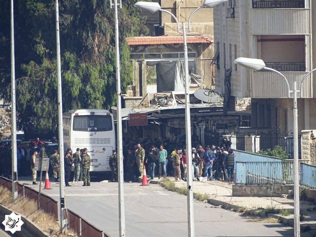 يعدّ تهجير حي برزة أول عملية تهجير تشهدها العاصمة منذ بدء الأزمة السورية في عام 2011