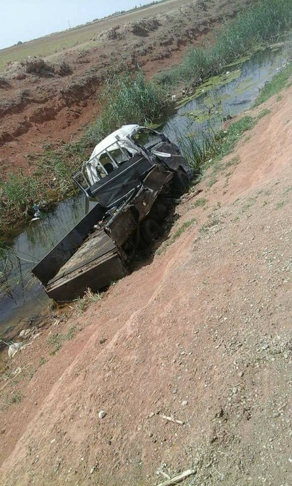 استهدف القصف سيارة نقل على طريق زراعي في محيط قرية رسم فالح