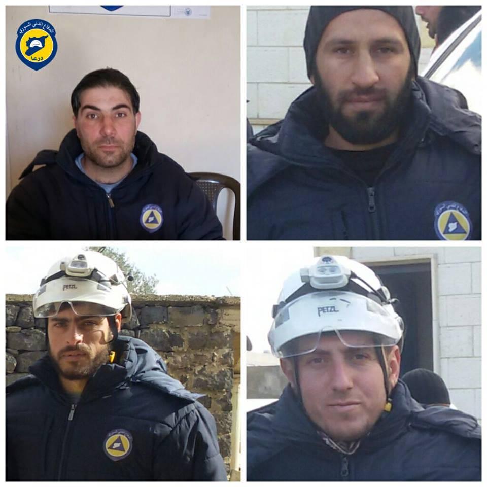 أدّى انفجار عبوة ناسفة إلى مقتل أربعة من عناصرالدفاع المدني في درعا