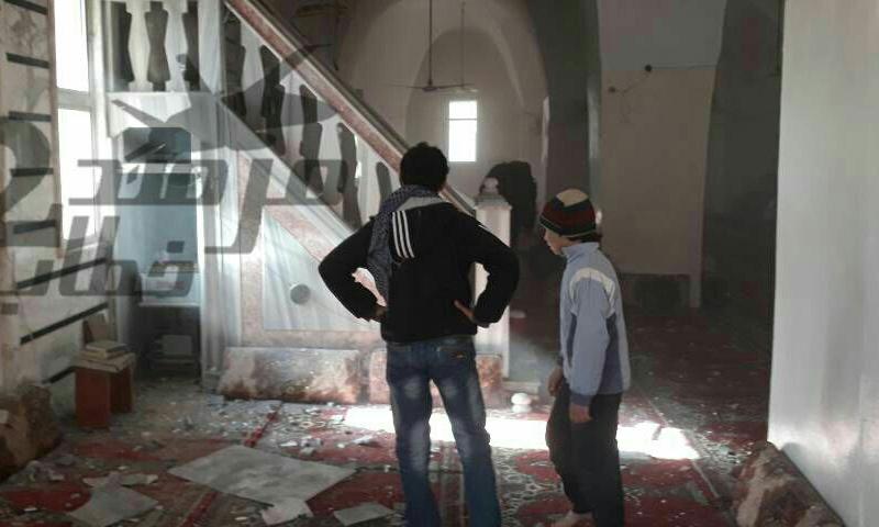 مسجد تلدو الكبير بعد التفجير