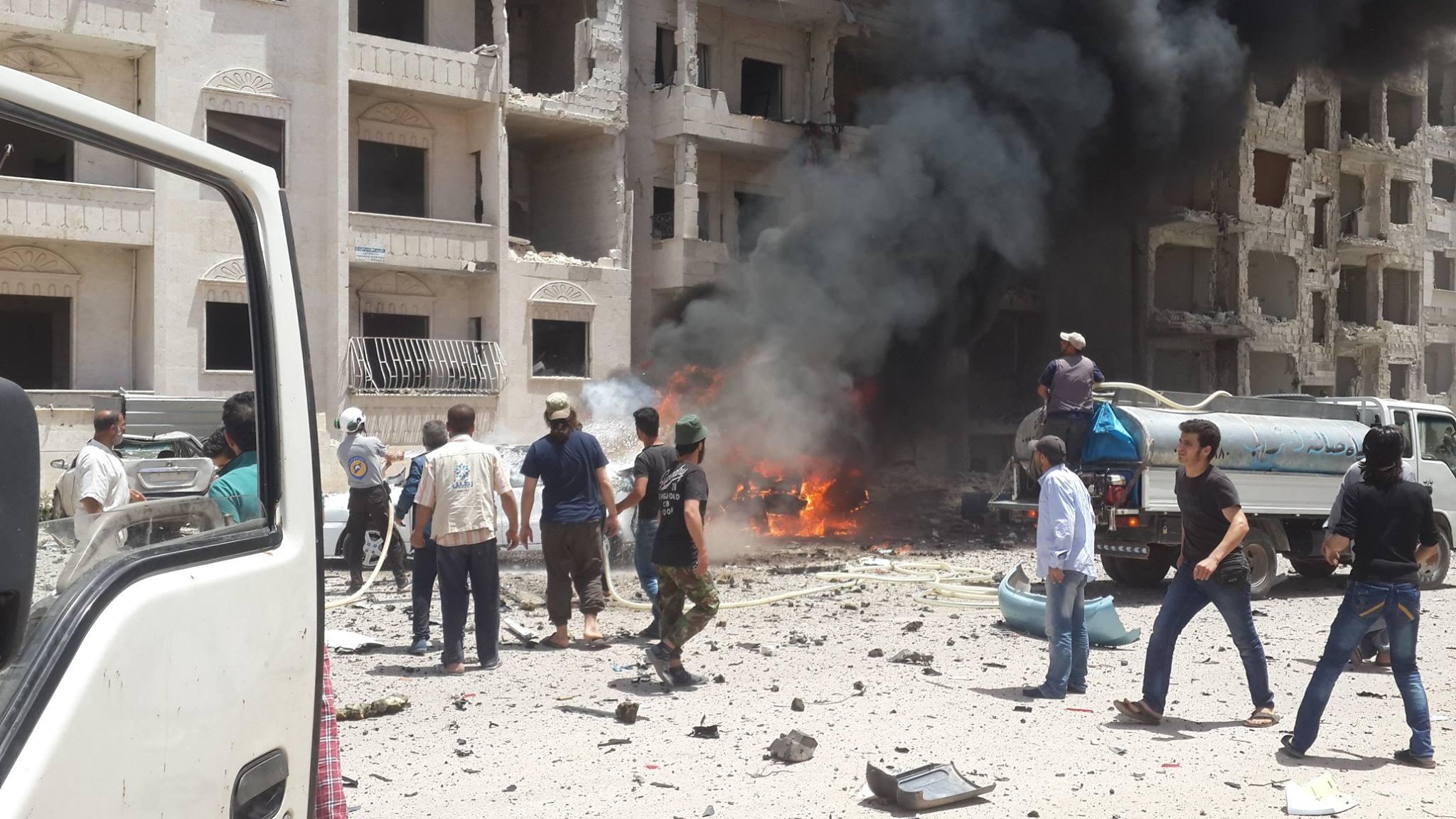 أدى الانفجار إلى إلحاق أضرار بالمباني والسيارات الموجودة في المكان