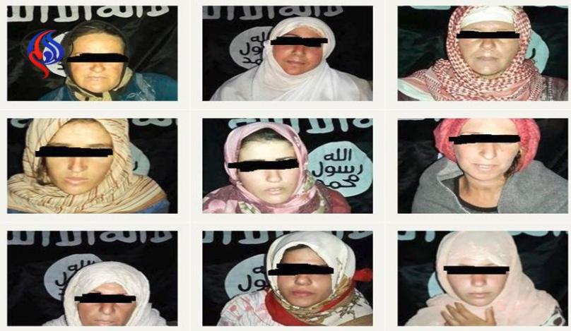 نشر التنظيم صور عدد من النساء اللواتي تم اختطافهن من السويداء