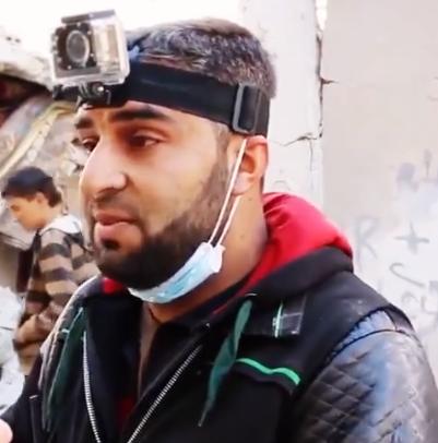 المسعف علاي العليوي، وهو ممن نزحوا من مدينة حلب في عام 2016